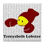 Terrycloth Lobster Tile Coaster