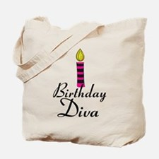 Pink and Black Birthday Diva Tote Bag