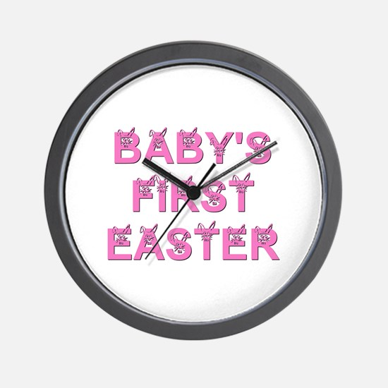 BABY'S FIRST EASTER Wall Clock