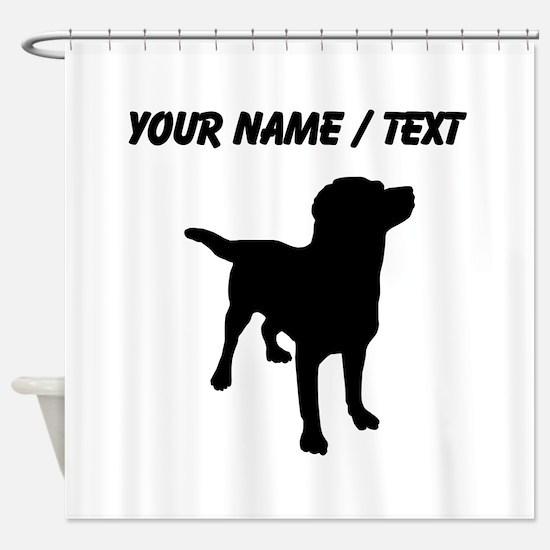 Custom Labrador Retriever Shower Curtain