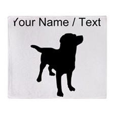 Custom Labrador Retriever Throw Blanket
