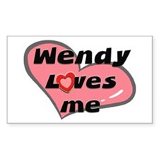 wendy loves me Rectangle Decal