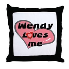 wendy loves me  Throw Pillow