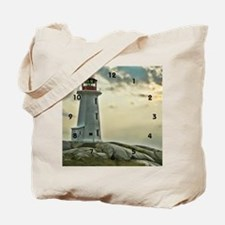 lighthouse_close_clock Tote Bag