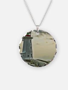 lighthouse_close_clock Necklace