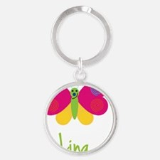 Lina-the-butterfly Round Keychain