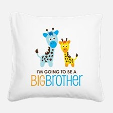 GiraffeBigBrotherToBeV2 Square Canvas Pillow