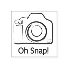 """Oh Snap Photography Square Sticker 3"""" x 3"""""""