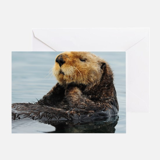 115x9_calender_otter_11 Greeting Card