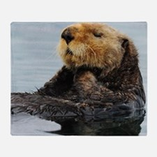 115x9_calender_otter_11 Throw Blanket