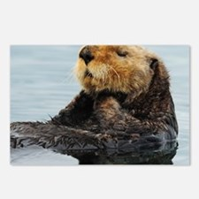 115x9_calender_otter_11 Postcards (Package of 8)