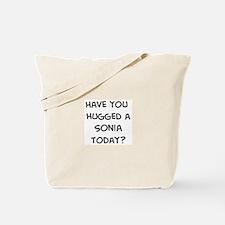 Hugged a Sonia Tote Bag
