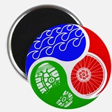 Triathlon TRI Swim Bike Run Yin Yang Magnets