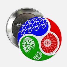 "Triathlon TRI Swim Bike Run Yin Yang 2.25"" Button"
