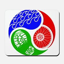 Triathlon TRI Swim Bike Run Yin Yang Mousepad