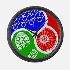 Triathlon TRI Swim Bike Run Yin Yang Large Wall Cl