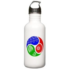 Triathlon TRI Swim Bike Run Yin Yang Water Bottle