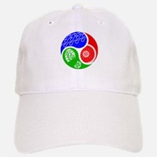 Triathlon TRI Swim Bike Run Yin Yang Baseball Hat