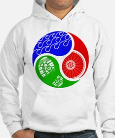 Triathlon TRI Swim Bike Run Yin Yang Hoodie
