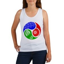 Triathlon TRI Swim Bike Run Yin Yang Tank Top