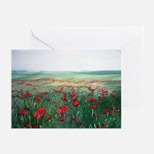 poppy poppies art Greeting Cards (Pk of 10)
