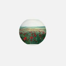 poppy poppies art Mini Button (10 pack)