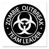 Zombie Square Car Magnets