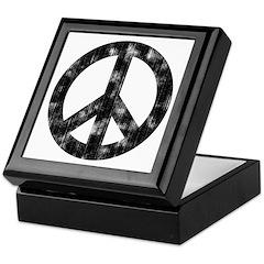 Distressed Peace Sign Keepsake Box