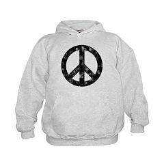 Distressed Peace Sign Hoodie