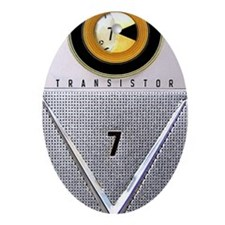 transistor_441_iphone_case Oval Ornament