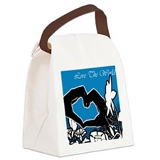 the-world.gif Canvas Lunch Bag