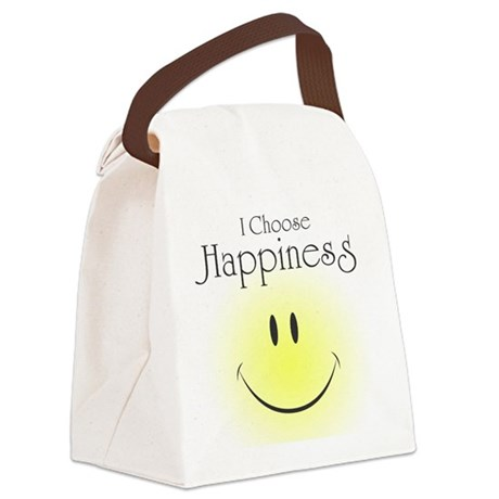 I Choose Happiness Canvas Lunch Bag
