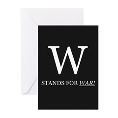 W Stands For WAR! Greeting Cards (Pk of 10)