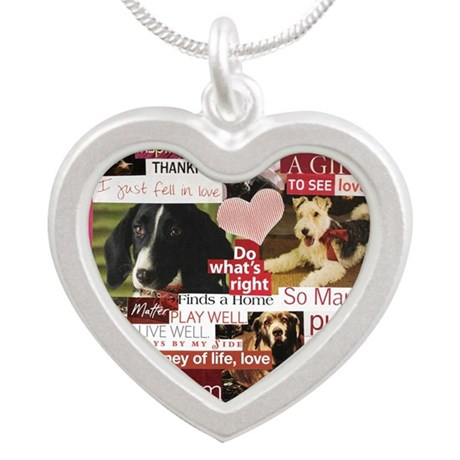 februarypetcalendar11x9 Silver Heart Necklace
