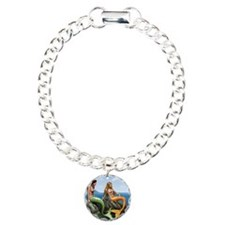 pensive mermaids on rock Bracelet