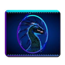 Electronic Bags Horned Black Dragon Mousepad
