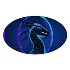 Electronic Bags Horned Black Dragon Decal