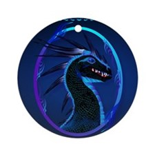 Electronic Bags Horned Black Dragon Round Ornament