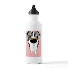 BlueMerleAussieCard Water Bottle