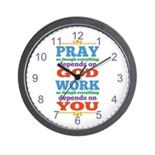 God Pray and Depend Wall Clock