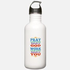 God Pray and Depend Water Bottle