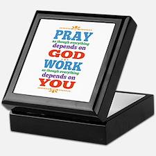 God Pray and Depend Keepsake Box