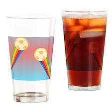 soccer rainbow Drinking Glass