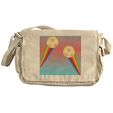 soccer rainbow Messenger Bag