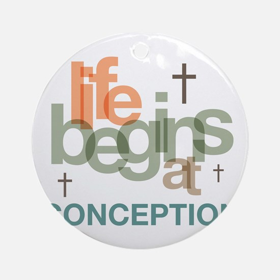 oct_life_conception Round Ornament