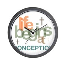 oct_life_conception Wall Clock