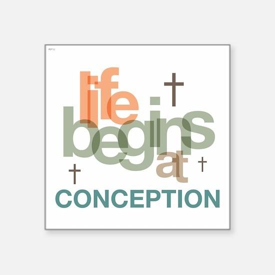 "oct_life_conception Square Sticker 3"" x 3"""