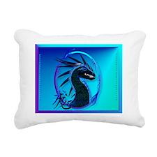 Electronic BagsHorned Bl Rectangular Canvas Pillow