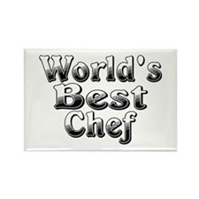 WORLDS BEST Chef Rectangle Magnet