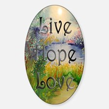 livehopelove-journal Sticker (Oval)